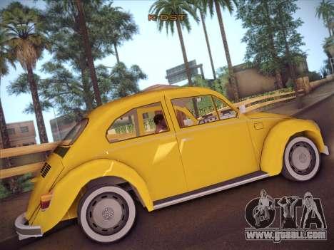Volkswagen Käfer for GTA San Andreas back view