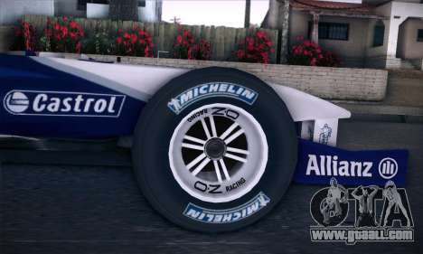 BMW Williams F1 for GTA San Andreas right view