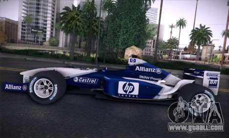 BMW Williams F1 for GTA San Andreas interior