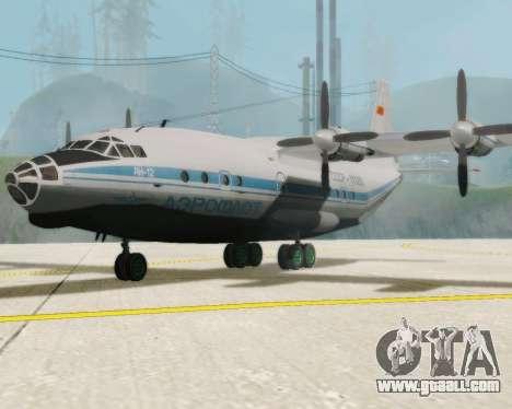 The an-12 Aeroflot for GTA San Andreas