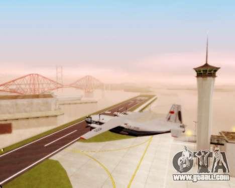 The an-12 Aeroflot for GTA San Andreas inner view
