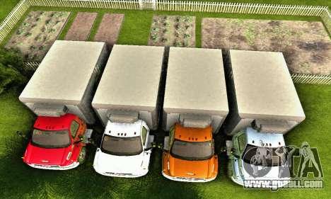 GMC Top Kick C4500 Dryvan House Movers 2008 for GTA San Andreas interior
