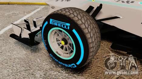 Mercedes AMG F1 W04 v2 for GTA 4 back view