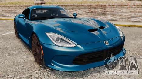 Dodge Viper SRT GTS 2013 for GTA 4