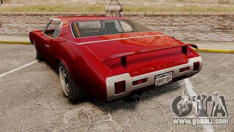 Hardtop Stallion IV for GTA 4 back left view