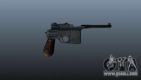 Mauser C96 self-loading pistol for GTA 4 third screenshot