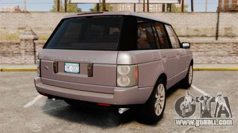 Range Rover Supercharged for GTA 4 back left view