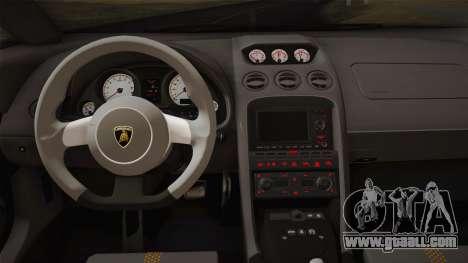 Lamborghini Gallardo Superleggera for GTA San Andreas interior