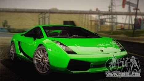 Lamborghini Gallardo Superleggera for GTA San Andreas back view