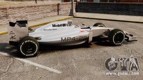 McLaren MP4-29 for GTA 4 left view
