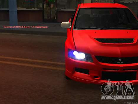 Mitsubishi Lancer Evo VIII for GTA San Andreas back view