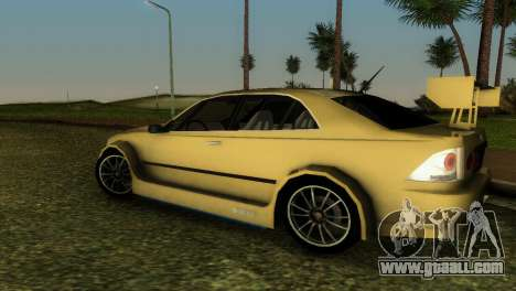 Lexus IS200 for GTA Vice City side view