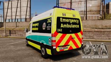 Mercedes-Benz Sprinter Australian Ambulance ELS for GTA 4 back left view