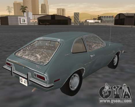 Ford Pinto 1973 for GTA San Andreas interior