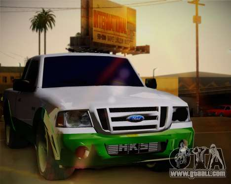 Ford Ranger 2005 for GTA San Andreas back view