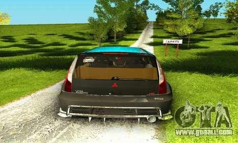 Mitsubishi Evo IX Wagon S-Tuning for GTA San Andreas upper view