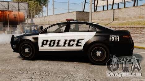 GTA V Vapid Police Interceptor for GTA 4 left view