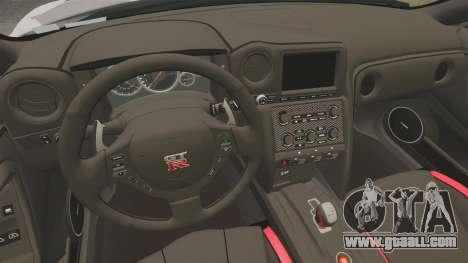 Nissan GT-R Black Edition 2012 Ski Slope Camo for GTA 4 inner view