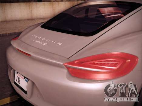 Porsche Cayman S 2014 for GTA San Andreas right view