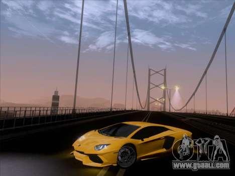 Lamborghini Aventador LP720-4 2013 for GTA San Andreas interior