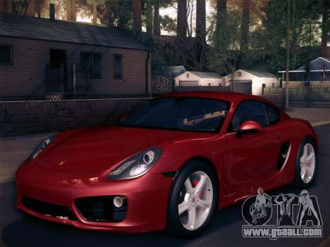 Porsche Cayman S 2014 for GTA San Andreas engine