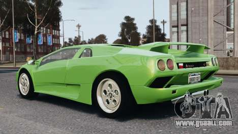 Lamborghini Diablo VT 1994 for GTA 4 upper view
