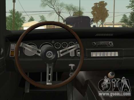 Dodge Charger RT V2 for GTA San Andreas inner view