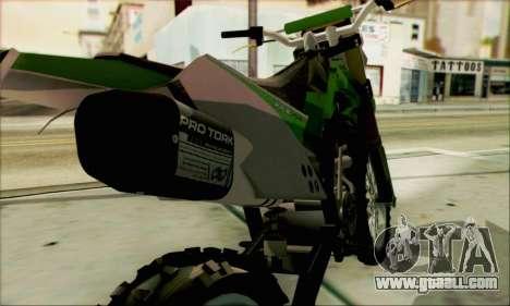 Kawasaki KLX 150 SE for GTA San Andreas right view