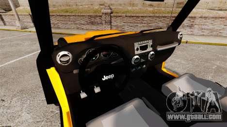 Jeep Wrangler Rubicon 2012 for GTA 4
