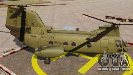 Boeing CH-46D Sea Knight for GTA 4 left view