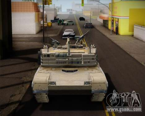 Abrams Tank Indonesia Edition for GTA San Andreas back left view