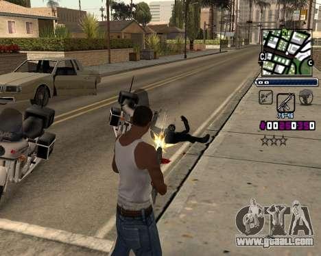 (C) HUD-by Gabbi_Stafford for GTA San Andreas second screenshot