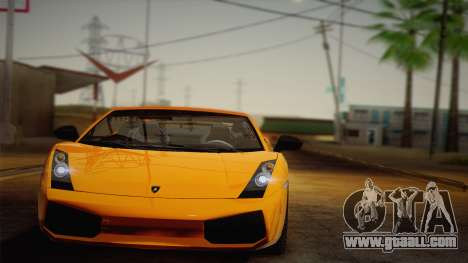 Lamborghini Gallardo Superleggera for GTA San Andreas back left view
