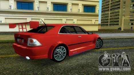Lexus IS200 for GTA Vice City left view