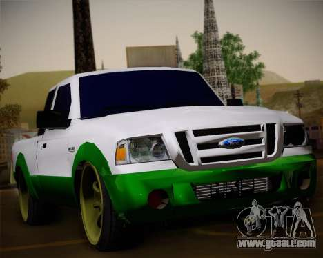 Ford Ranger 2005 for GTA San Andreas upper view