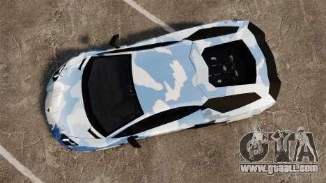 Lamborghini Aventador LP700-4 LE-C 2014 for GTA 4 right view