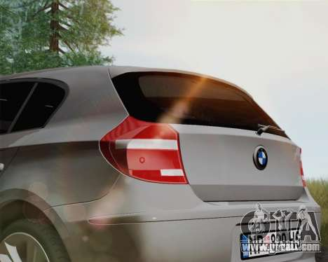 BMW 120i for GTA San Andreas back left view