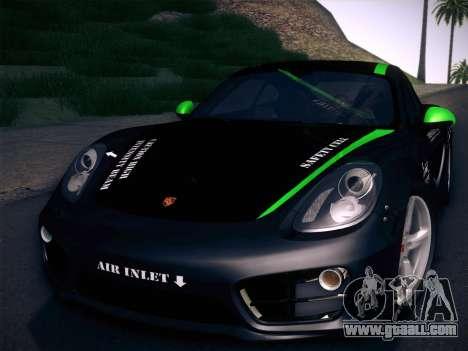 Porsche Cayman S 2014 for GTA San Andreas upper view