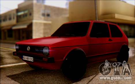 Volkswagen Golf Mk1 TAS for GTA San Andreas