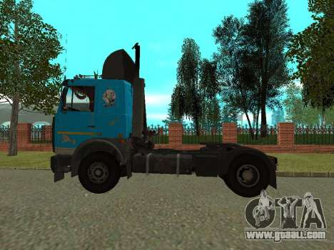 MAZ 54320 for GTA San Andreas back left view