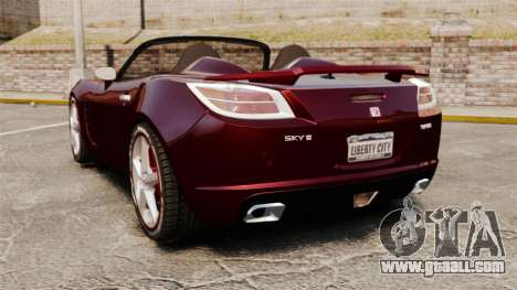 Saturn Sky Red Line Turbo for GTA 4 back left view