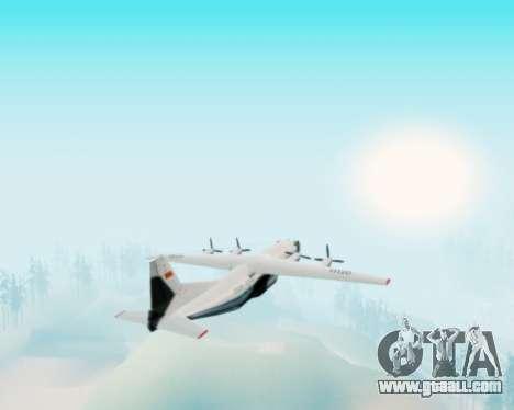 The an-12 Aeroflot for GTA San Andreas back view