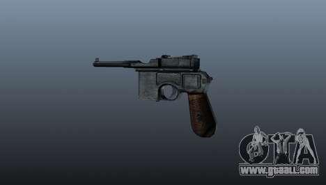 Mauser C96 self-loading pistol for GTA 4 second screenshot