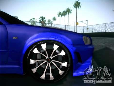 Nissan Skyline GTR for GTA San Andreas interior