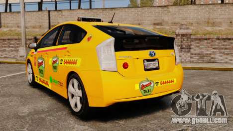Toyota Prius 2011 Warsaw Taxi v1 for GTA 4 back left view