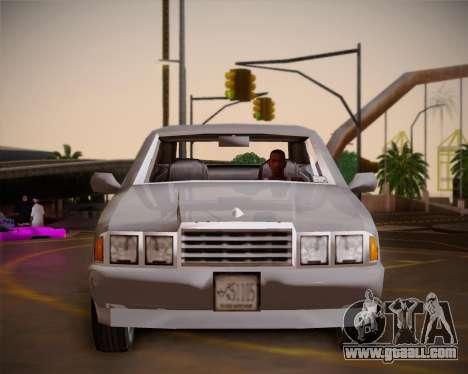 GTA III Kuruma for GTA San Andreas inner view