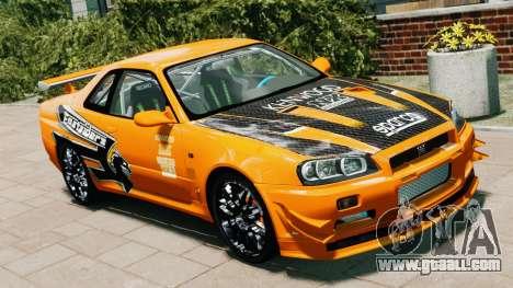 Nissan Skyline R34 GT-R NFS Underground for GTA 4