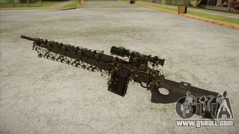 Sniper M-14 With Camouflage Grid for GTA San Andreas second screenshot