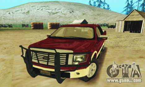 Ford F-150 KING RANCH Edition 2010 for GTA San Andreas upper view