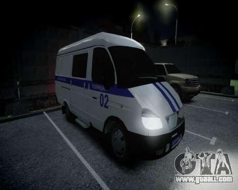 Gazelle 2705 Police for GTA 4 left view
